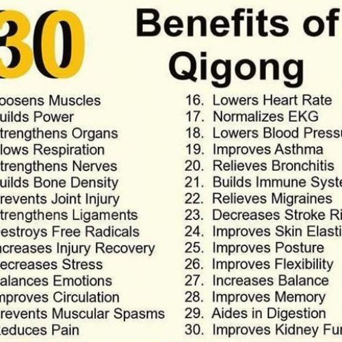 30 benefits of qigong